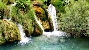 Waterfalls in Plitvice National Park Royalty Free Stock Images