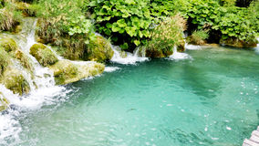Waterfalls in Plitvice National Park Royalty Free Stock Photography