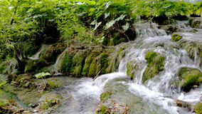Waterfalls in Plitvice National Park Stock Images
