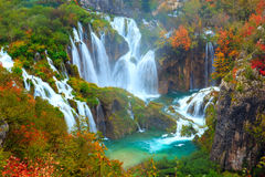 The waterfalls of Plitvice National Park Royalty Free Stock Photography