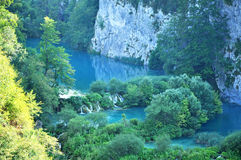 Waterfalls in Plitvice National Park, Croatia Stock Photo