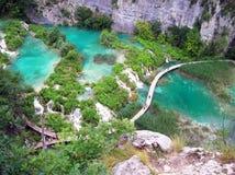 Waterfalls in Plitvice park. Croatia Royalty Free Stock Photography