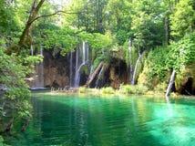 Waterfalls in Plitvice park. Waterfall on Plitvice lakes, Croatia Royalty Free Stock Photography