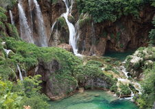 Waterfalls of Plitvicka jezera Stock Image