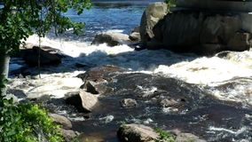 Waterfalls in Quebec Laurentians area stock video