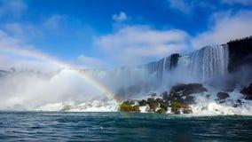 Waterfalls Rainbow Landscapes Niagara Falls , Toronto. Incredible Landscapes of the natural Niagara Falls with a rainbow Royalty Free Stock Images