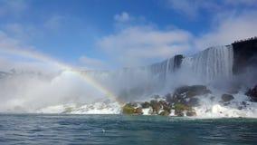 Waterfalls Rainbow Landscapes Niagara Falls , Toronto. Incredible Landscapes of the natural Niagara Falls with a rainbow Royalty Free Stock Photo