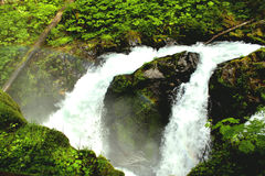 Waterfalls and Rainbows stock photo