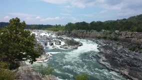 Waterfalls and Rapids at Great Falls, Virginia stock photos