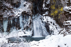The waterfalls of Riva. In Campo Tures stock photos