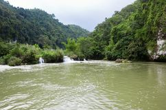 Waterfalls on the river Loboc, Bohol Stock Photography
