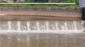 Waterfalls river Miljacka stock footage