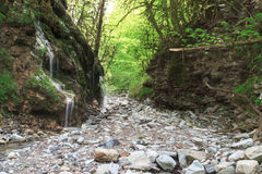 Waterfalls on the road to Babuk aul. The Area Of The Big Sochi Stock Images
