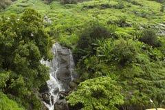 Waterfalls on road to Ekvira Devi temple, Lonavala, Maharashtra, India.  royalty free stock photos