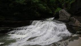 Waterfalls in Robert H Treman SP. Robert H. Treman State Park - Finger Lakes Area - New York stock video