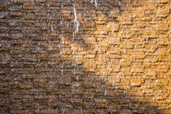 Waterfalls rock wall in garden Stock Image