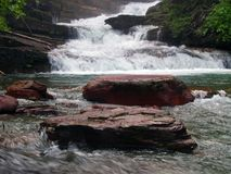 Waterfalls and Rocks Royalty Free Stock Photos