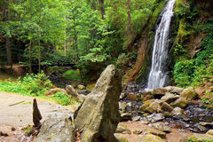 Waterfalls with rocks Royalty Free Stock Images