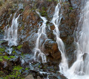 Waterfalls  among Rocks at Xyliatos dam in Cyprus Stock Photos