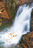 Waterfalls on Rocky Autumn Stream Stock Photography