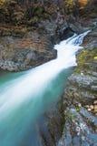 Waterfalls on Rocky Autumn Stream royalty free stock photography