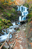 Waterfalls on Rocky Autumn Stream Royalty Free Stock Image