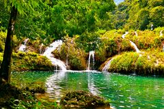 Waterfalls of Semuc Champey Royalty Free Stock Photography