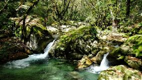 2 waterfalls slow motion