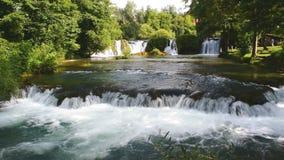 The waterfalls of Slunj. Waterfalls in the rivers Slunj and Koran. Croatia stock footage