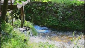 The waterfalls of Slunj. The water mill in Slunj. Croatia stock video