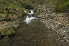 Waterfalls. Small waterfalls flowing river forms Stock Photos