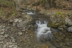 Waterfalls. Small waterfalls flowing river forms Stock Images