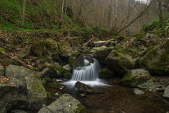 Waterfalls. Small waterfalls flowing river forms Royalty Free Stock Photos
