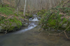 Waterfalls. Small waterfalls flowing river forms Royalty Free Stock Images