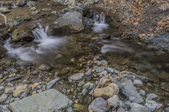 Waterfalls. Small waterfalls flowing river forms Stock Image