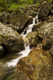 Waterfalls on small river Royalty Free Stock Photography