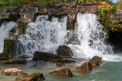Waterfalls. Spring feed creeks feed the waterfalls of missouri Stock Photo