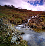 Waterfalls and the stream Royalty Free Stock Photography