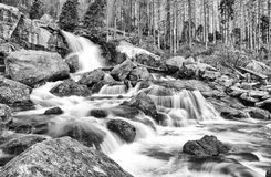 Waterfalls at stream Studeny potok in High Tatras, Slovakia Stock Photos
