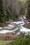 Waterfalls at stream Studeny potok in High Tatras, Slovakia Stock Photo