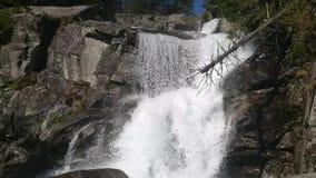 Waterfalls in Studenovocka Valley stock video