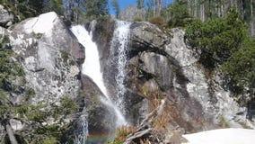 Waterfalls in Studenovocka Valley stock footage