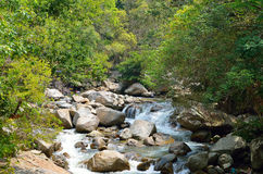 Waterfalls at Sungai Kanching, Rawang, Selangor, Malaysia Royalty Free Stock Photo
