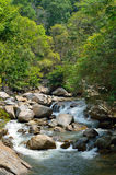Waterfalls at Sungai Kanching, Rawang, Selangor, Malaysia.  royalty free stock images