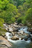 Waterfalls at Sungai Kanching, Rawang, Selangor, Malaysia.  royalty free stock image