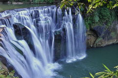 Waterfalls in Taiwan. Waterfalls of Shifen, in Taipei County, Taiwan royalty free stock photos