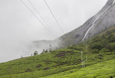 Waterfalls in a tea estate Stock Photography
