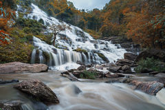 Waterfalls in Thailand. Waterfalls in Autumn in the North part of Thailand stock photo