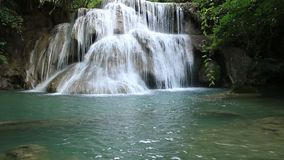 Waterfalls in Thailand stock video footage