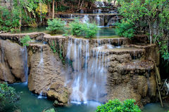 Waterfalls in Thailand. Huymeakamin waterfalls in Kanchanaburri Thailand Royalty Free Stock Image